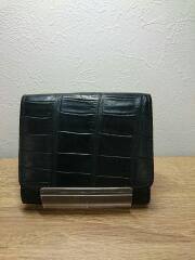 ヒルトン/3つ折り財布/レザー/BLK/アニマル/メンズ