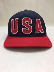 12SS/USA 5-Panel Snapback Cap/キャップ/--/NVY