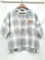 SUNSEA/20S16/Gingham Shadow Fried Shrimp Shirt/2/レーヨン/WHT