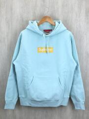 box logo hoodie sweatshirt/17AW/パーカー/M/ボックスロゴ/ブルー/スウェット/プルオーバー