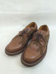 ファイヤーパターンレザーシューズ/UK8/本革/炎/ドレスシューズ/革靴/短靴/レザーソール