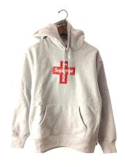 20FW/Cross Box Logo Hooded Sweatshirt/S/コットン/グレー/パーカー/クロス/プルオーバー クロスボックスロゴ