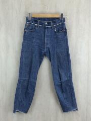 17ss/ボトム/S/コットン/IDG/straight jeans
