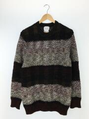 セーター(薄手)/1/ウール/BLK/毛玉有