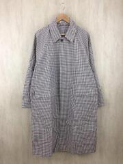 19ss/FINX WEATHER CLOTH CHECK COAT/コート/4/コットン/BRW/チェック/ステンカラー
