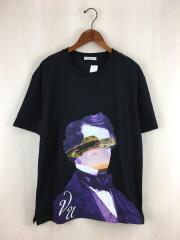 19AW/プリントTシャツ/L/コットン/BLK