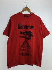 ×破壊の日/Tシャツ/XL/コットン/RED