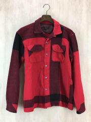 18AW/Classic Shirt/長袖シャツ/S/ウール/レッド/チェック/ネルシャツ/開襟シャツ