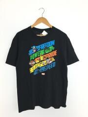 クルネーックTシャツ/Tシャツ/L/コットン/BLK