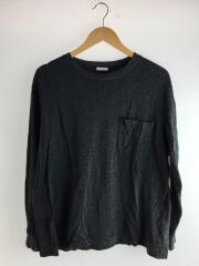 18SS/長袖Tシャツ/1/コットン/GRY/毛羽立ち