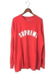 16ss/Arc Logo L/S Top/長袖Tシャツ/XL/コットン/RED/破れ使用感有