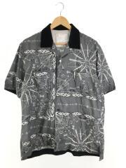 20AW/Bandana Print Shirt/3/ポリエステル/GRY/総柄