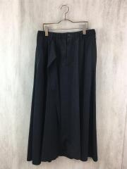 20SS/asymmetric double skirt pants/サルエルパンツ/1/ポリエステル/BLK