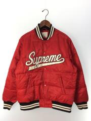Uptown Studded Leather Varsity Jacket/ジャケット/M/ナイロン/RED/汚れ