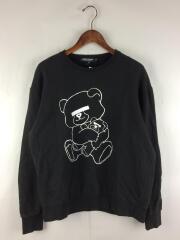 BEAR/スウェット/L/コットン/BLK