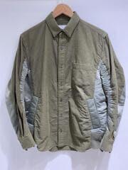 Nylon Twill Cotton Shirt/長袖シャツ/1/コットン/KHK/汚れ有