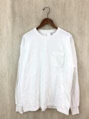 ラインTシャツ/36/コットン/WHT