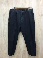 21ss/WIDE CROPPED TAPERED STRETCH DENIM PANTS/M/デニム/IDG