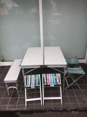 ロゴス/テーブル/ベンチテーブルセット6-AF/6人用/73183004