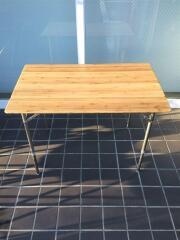 フィールドア/バンブーテーブル100/折り畳みテーブル/竹テーブル/キズ・汚れ有り