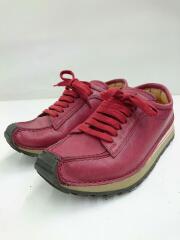 ローカットスニーカー/23cm/レッド/レザー/シューズ/中古/靴/USED