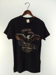 Tシャツ/S/コットン/ブラック/プリント/中古/USED