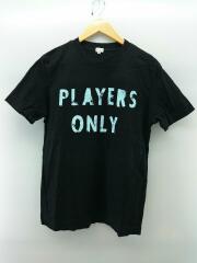 Tシャツ/M/コットン/ブラック/プリント/PLAYERS ONLY