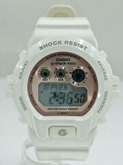 GSHOCKmini/クォーツ腕時計/デジタル/ラバー/PNK/WHT/GMN-691