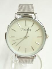 Ulzzang/クォーツ腕時計/アナログ/メッシュベルト/箱有/ステンレス/WHT/SLV