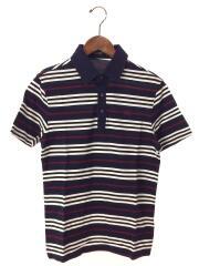 ポロシャツ/2/コットン/NVY/ボーダー/BMV28-635-29/ワンポイント/刺繍