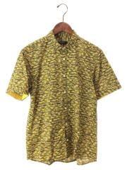 半袖シャツ/3/コットン/GRN/カモフラ/D1M33-732-74/ワンポイント/刺繍/ボタン