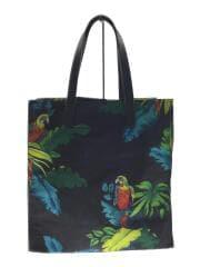 トートバッグ/ナイロン/マルチカラー/総柄/M0010300-002/B.Y.O.T. Parrot Shopp