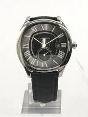 自動巻腕時計/アナログ/レザー/BLK/BLK/WSNM0009