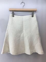 MLF14404-A/panel flare skirt/スカート/38(M)/コットン/WHT/2014AW