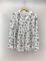 old english shirt/0756/長袖シャツ/S/44/WHT/総柄/カジュアル/セカスト