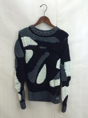 セーター(薄手)/S/アクリル/BLK/無地/ニット/マーブル模様/デザイナーズ