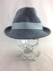 ハット/帽子/ヘッドウェア/XL/ウール/グレー/灰色/無地/BJ-013/セカスト/中古