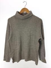 セーター(薄手)/2/コットン/GRY/ハイネック/日本製/杢グレー/MA-C-027