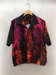 半袖シャツ/48/ポリエステル/マルチカラー/オープンカラーシャツ/チャイナシャツ/セカスト
