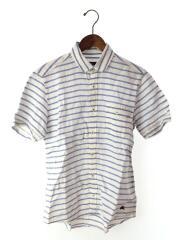 半袖シャツ/2/リネン/WHT/ボーダー/モード/デザイナーズ/セカンドストリート