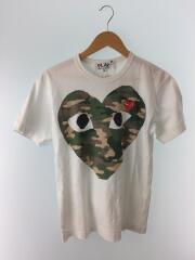 Tシャツ/M/コットン/WHT/プリント/丸首/刺繍/クルーネック/セカスト