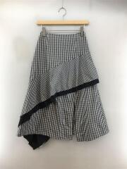 19S67421/ロングスカート/34(S)/マルチカラー/ギンガムチェック/2017SS/セカスト