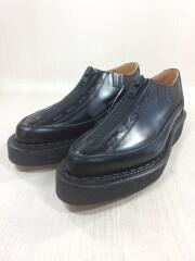 GEORGE COX/PF-K102-001/ドレスシューズ/UK8/BLK/レザー/ブラック/黒/ジップ/フロントジップ