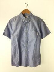 トップス/半袖シャツ/M/ロゴタグ/胸ポケット/コットン/BLU/無地/使用感有/セカスト