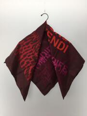 スカーフ/シルク/BRD/総柄/FF/ロゴ/シミ有/タグ取れかけ/セカスト
