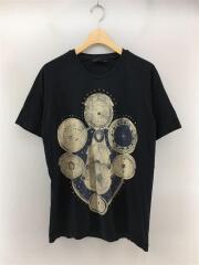 Tシャツ/XL/コットン/BLK/半袖/カットソー/クルーネック/ピストルモチーフ/中古/古着/セカスト