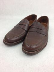 UNLINED PENNY LOAFER/UK8/BRW/レザー/革靴/コインローファー/N5202F