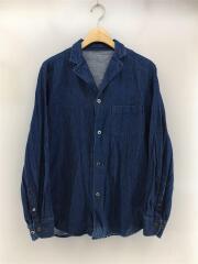 4300-1/長袖シャツ/--/デニム/IDG/無地/開襟/胸ポケット/ボタン/セカスト