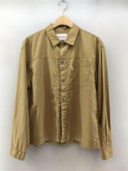 シャツ/40/コットン/BEG