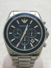 クォーツ腕時計/AR-6091/Sport Chronohgraph/アナログ/ステンレス/BLU/SLV